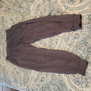 Gray flowy jogger style pants
